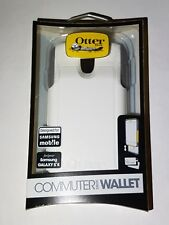 OtterBox Commuter for Galaxy S4  Wallet Case with screen protector ‑ White