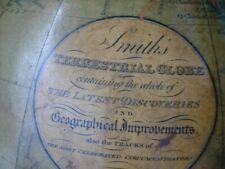 Antique Original Globe Terrestrial Smiths 1860