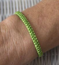 Bracelet brésilien amitié fil de coton ciré tresse porte bonheur vert  21154