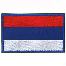 Russia Country Flag RU Russian FLAG ARMY 3D EMBROIDERED HOOK PATCH