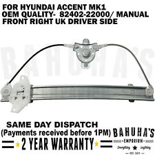 MANUAL WINDOW REGULATOR FOR HYUNDAI ACCENT MK1 1994-2000 FRONT RIGHT SIDE 4 DOOR