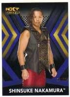2017 Topps WWE NXT Wrestling Blue Parallel /50 #49 Shinsuke Nakamura