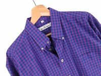 R717 Ben Sherman Camicia Maglietta Originale Premium Vintage Quadri TAGLIA L