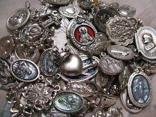 25 Religious Medal Pendant Crucifix Cross Our lady-Saint Random Mix Lot #12