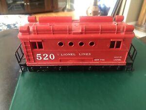 1956 LIONEL LINES TRAINS -NO. 520 BOX CAB SWITCHER ELECTRIC LOCOMOTIVE- O-GAUGE
