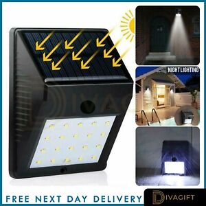 20 LED Solar Powered PIR Motion Sensor Wall Lights Outdoor Garden Security Lamp