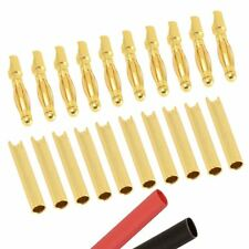 10 x PAIRS RC 2mm Gold Bullet Connector + Heat Shrink Lipo Battery ESC Motor