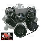 Small Block Chevy Serpentine Kit Front Drive System Black Sbc 305 327 350 400