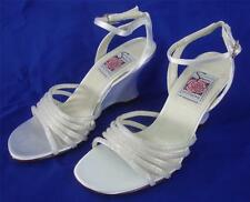 NEW Special Occasions by Saugus Shoe Bridal SIENNA 21030B White Satin Size 5