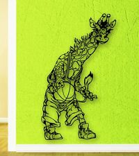 Wall Stickers Vinyl Decal Giraffe Basketball Sports for Kids Room (ig1756)