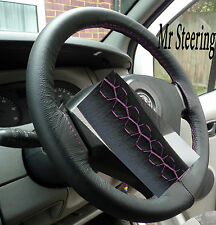 FITS FIAT SCUDO 2007+ REAL ITALIAN LEATHER STEERING WHEEL COVER PINK STITCHING