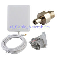 10dbi 2300-2700Mhz Panel mount 4G LTE antenna aerial TELSTRA OPTUS + SMA to TS9