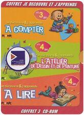 23467 // COFFRET JE DECOUVRE ET J'APPRENDS - 3 CD-ROM NEUF SOUS BLISTER