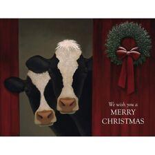 Lang Boxed Christmas Cards COWS Lowell Herreo NIB Beautiful Colors