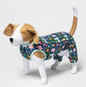 NEW Holiday World Icon Christmas Tree Dog and Cat  Pajamas Wondershop SIZE SMALL