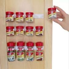 Spice wall Rack Storage plastic Kitchen organizer 10 Cabinet Door hooks 2PCS/SET