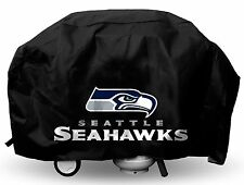 Seattle Seahawks Deluxe Team Logo BBQ Gas Propane Grill Cover - NEW - Lined