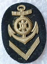 Patch- German Navy Petty Officer Metal Sleeve Patch, Used BRASS*