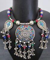Tribal Necklace Bib Choker Statement Fashion Jewelry Vintage Boho Gypsy Kuchi