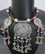Tribal Necklace Bib Choker Statement Fashion Jewelry Vintage Boho Gypsy Kuchi