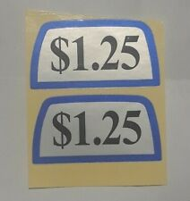 Laundromat Washateria Coin Op Washer Dryer Price Sticker $1.25 set of 2 Free S/H