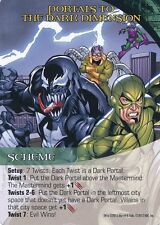 VENOM/DOC OCK/SCORPION Upper Deck Marvel Legendary SCHEME PORTALS DARK DIMENSION