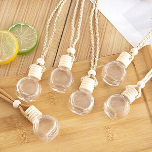 Air Freshener Car Perfume Bottle Hanging Pendant Empty Essential Oils Ornament