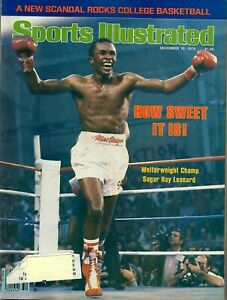 Sports Illustrated Magazine December 10 1979 Sugar Ray Leonard Boxing Champ