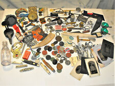 New listing Junk Drawer Lot Vintage Coins Tools Knives Box Spoons Lamp Tin Types Bronze Ball