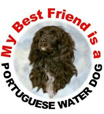 2 Portuguese Water Dog Car Stickers By Starprint