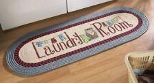 Laundry Clothes Wash Room Washer Dryer Braided Runner Rug Floor Door Mat