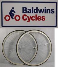 "27"" x 1 1/4 PAIR Bike Wheels + SCHWALBE Premium White Wall Tyre's & Tube's"