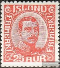 Iceland 102 with hinge 1921 Christian X.