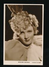Film Theatre MARLENE DIETRICH c1930s RP PPC