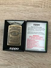 Genuine Zippo Jack Daniels lighter - windproof - JD brass pewter chrome