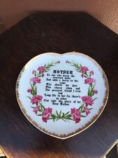 Handpainted Heart Shaped Mother ESD Japan Collectible Plate