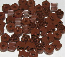 Lego Lot of 50 New Reddish Brown Bricks Round 2 x 2 with Grille and Axle Hole