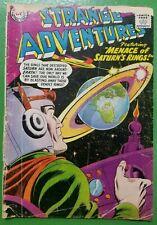 Strange Adventures #96 Menace of Saturn's Rings sci-fi DC Comics 1958 GD