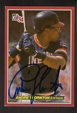 Andre Thornton--Autographed 1984 Donruss All Star Postcard--Cleveland Indians