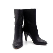 Vince Camuto Black Mid-Calf Heel Boots Black Ezabelle Sheep Washed Size 8.5 M