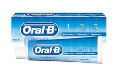 ORAL B 123 ANTI CAVIDAD Pasta de Dientes Con Fluorida, Menta Fresca 1ooml