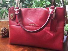 COACH 33562 Mini Turnlock Borough Bag Handbag in Red Currant