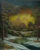 ORIGINAL OIL PAINTING on CANVAS - Wetland by SP Soni