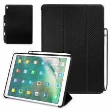 Apple iPad Pro 10.5 Case Carbon Fiber w/ Rubberized Back Pen Holder Stand Cover