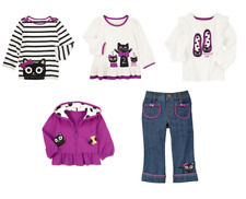 Gymboree Purrfectly Fabulous Girl 5PC Lot Outfit Set Top Hoodie Halloween Cat 3T