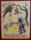 Vintage Halloween Greeting Card Racist Black Stereotype Hallmark Rufftex Unused