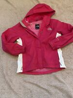 THE NORTH FACE WOMEN SIZE SMALL HYVENT PINK FULL ZIP HOODED RAIN JACKET
