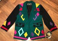 NWT Vtg 80s 90s Braetan MEDIUM Sport Coat Jacket Blazer Saved By The Bell Party