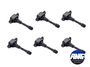 Set of 6 New OEM Ignition Coils for Nissan Xterra Infiniti QX60 Q50 JX35 - UF550