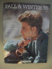 VINTAGE 1985 MONTGOMERY WARD CATALOG; FALL & WINTER 291 PAGE; CLOTHING SPORTS...